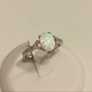 Jewelry - Sterling Silver White Lab Opal Ring